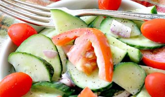 Buttermilk Cucumber Tomato Salad