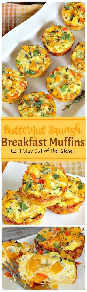 Butternut Squash Breakfast Muffins | Can't Stay Out of the Kitchen