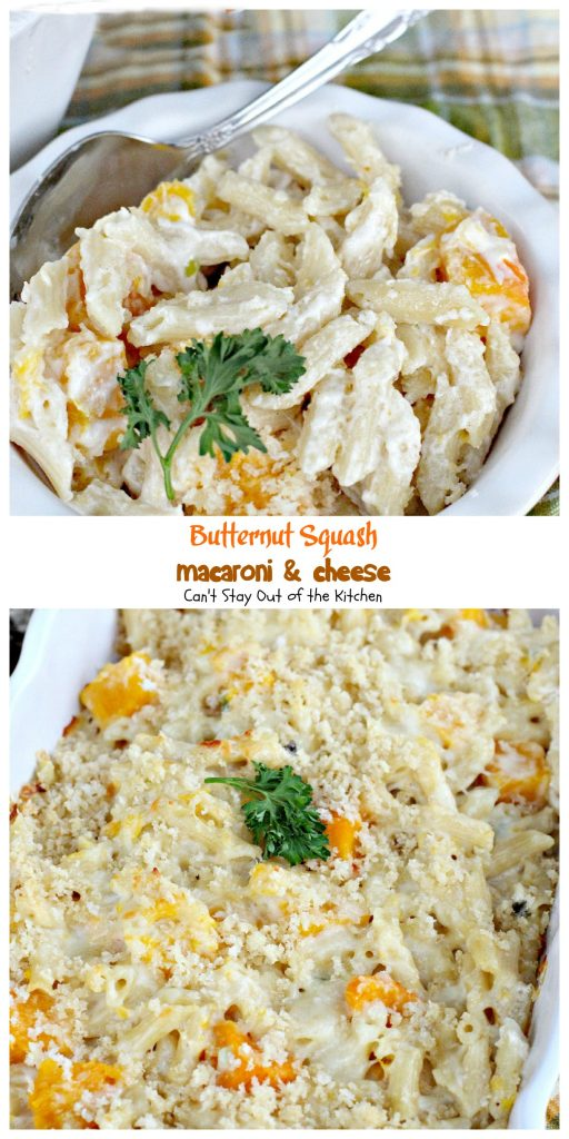 Butternut Squash Macaroni & Cheese | Can't Stay Out of the Kitchen