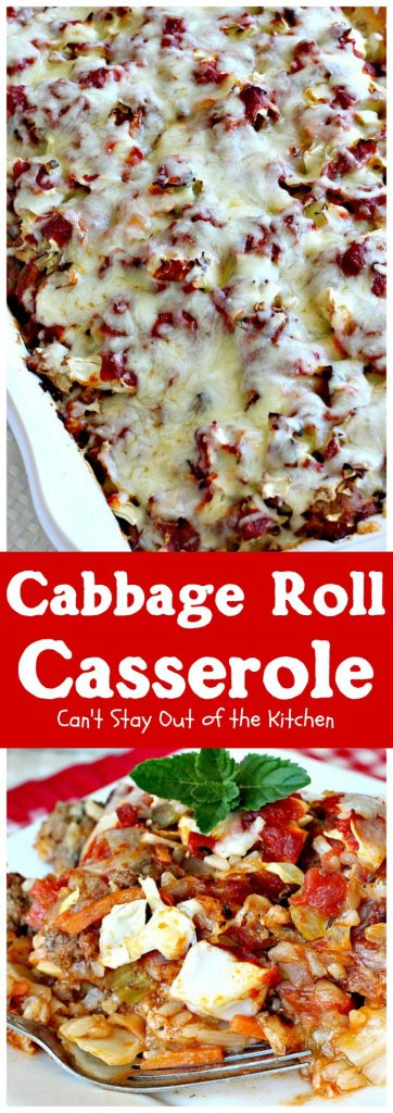 Cabbage Roll Casserole | Can't Stay Out of the Kitchen
