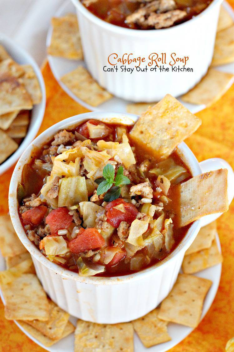 Cabbage Roll Soup | Can't Stay Out of the Kitchen