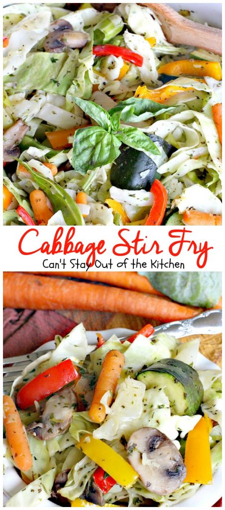 Cabbage Stir Fry | Can't Stay Out of the Kitchen