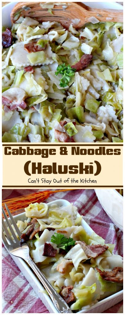 Cabbage and Noodles (Czechoslovakian Haluski) | Can't Stay Out of the Kitchen