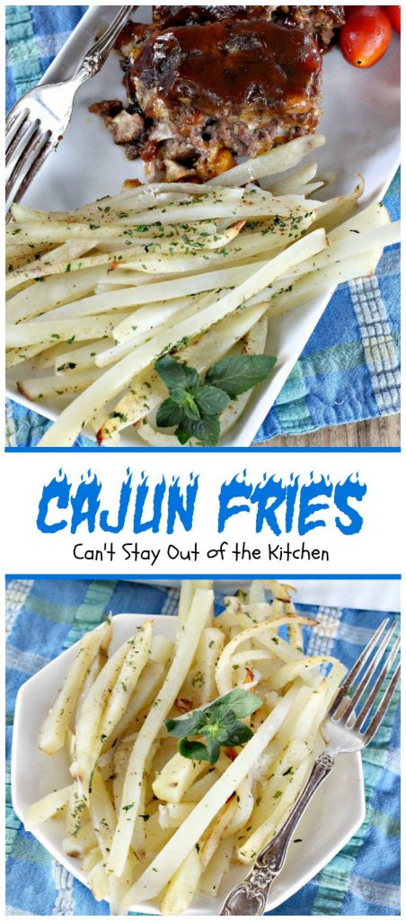 Cajun Fries | Can't Stay Out of the Kitchen | these amazing oven-baked #fries have amazing flavor from #cajun seasoning. #glutenfree #vegan