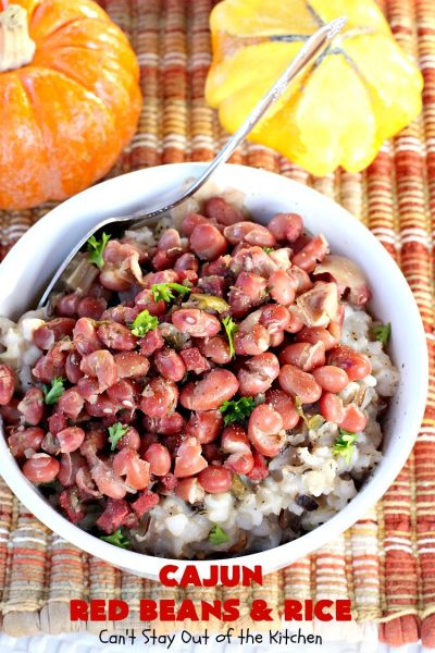 Cajun Red Beans and Rice | Can't Stay Out of the Kitchen | this fabulous #RedBeansandRice #recipe is absolutely mouthwatering & perfect for fall and winter nights. It's hearty, filling & totally satisfying. #redbeans #rice #ham #pork #glutenfree #Cajun