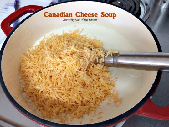 Canadian Cheese Soup | Can't Stay Out of the Kitchen | the BEST #ham and #cheese #soup you'll ever eat. One of my favorite comfort foods.