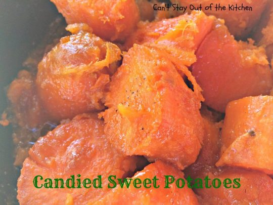 Candied Sweet Potatoes - IMG_1842