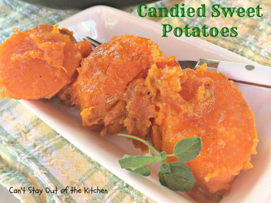 Candied Sweet Potatoes - IMG_1870