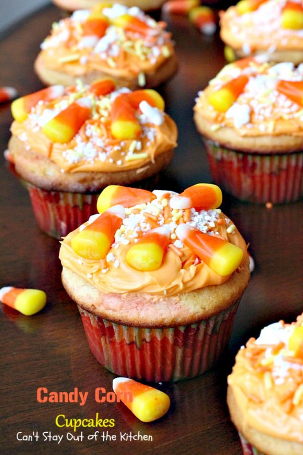 Candy Corn Cupcakes | Can't Stay Out of the Kitchen