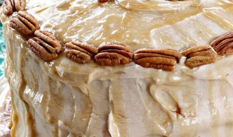 Caramel Apple Cake with Apple Cider Frosting
