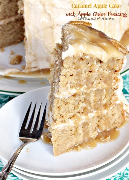 Caramel Apple Layer Cake With Apple Cider Frosting Recipe