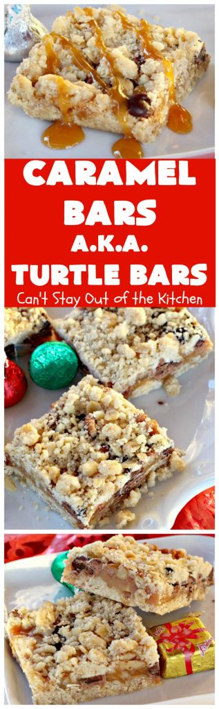 Caramel Bars (A.K.A. Turtle Bars) | Can't Stay Out of the Kitchen