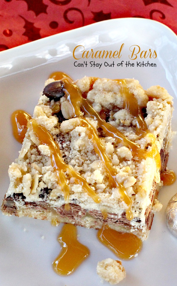 Caramel Bars | Can't Stay Out of the Kitchen
