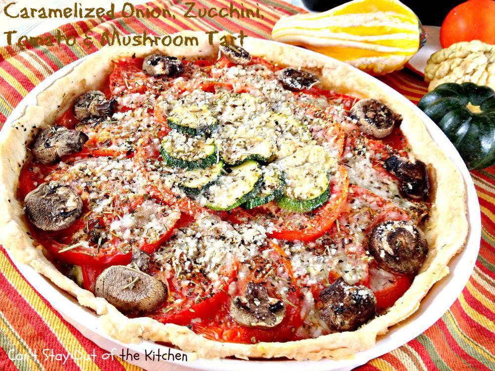 88. Caramelized Onion, Zucchini, Tomato, and Mushroom Tart