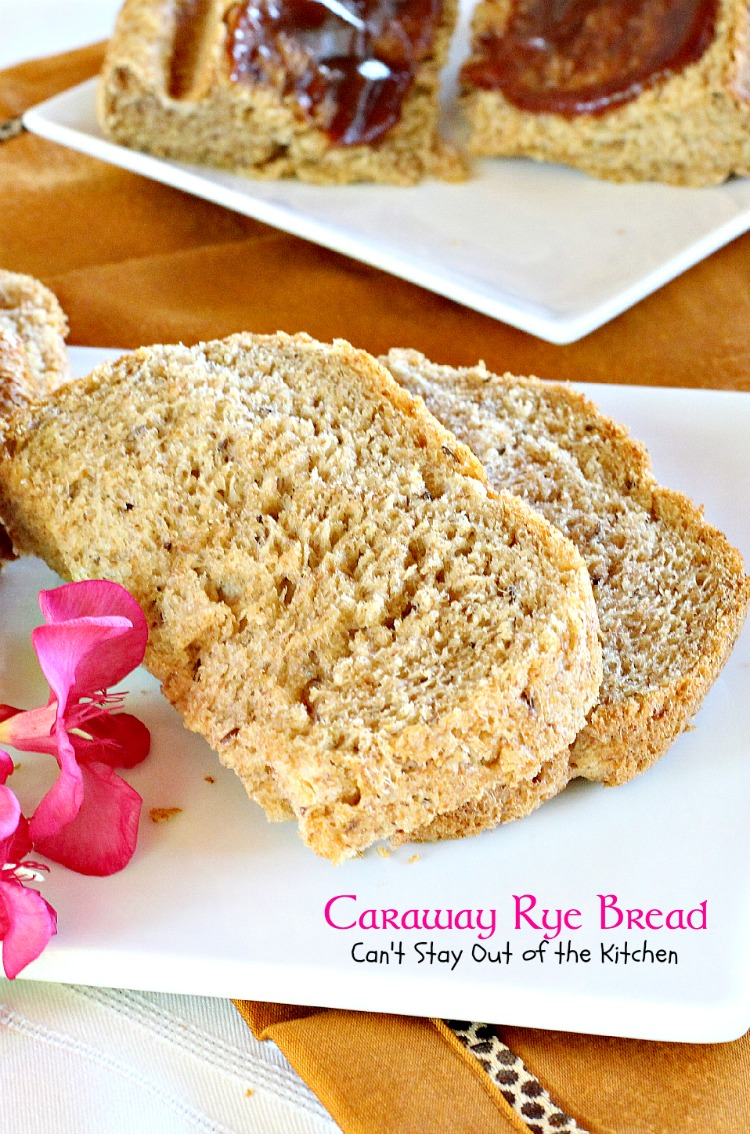 Caraway Rye Bread | Can't Stay Out of the Kitchen | this lovely #breadmaker #bread has old-world flavors using #rye flour and #carawayseeds