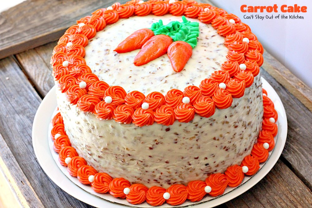 Cake Decoration Carrots : Carrot Cake - Canot Stay Out of the Kitchen