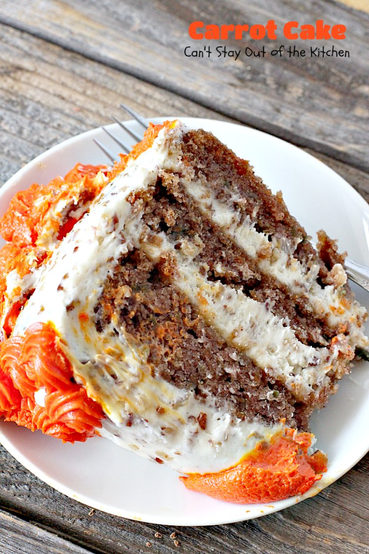 Carrot Cake - Can't Stay Out of the Kitchen