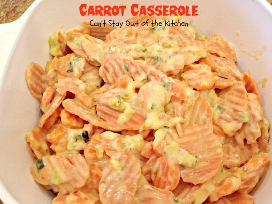 Carrot Casserole - Recipe Pix 21 085