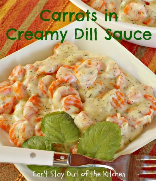 Carrots in Creamy Dill Sauce - IMG_7705