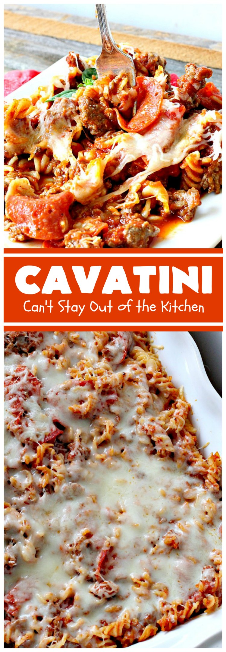 Cavatini Can T Stay Out Of The Kitchen