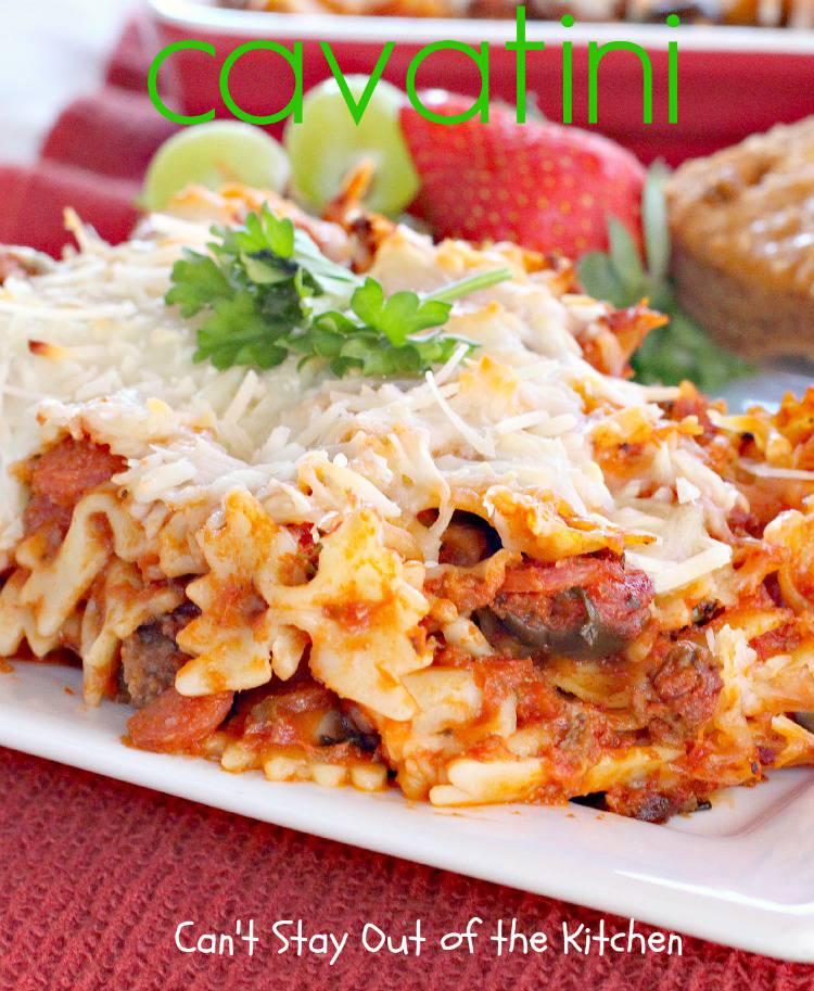 Recipe cavatini pasta