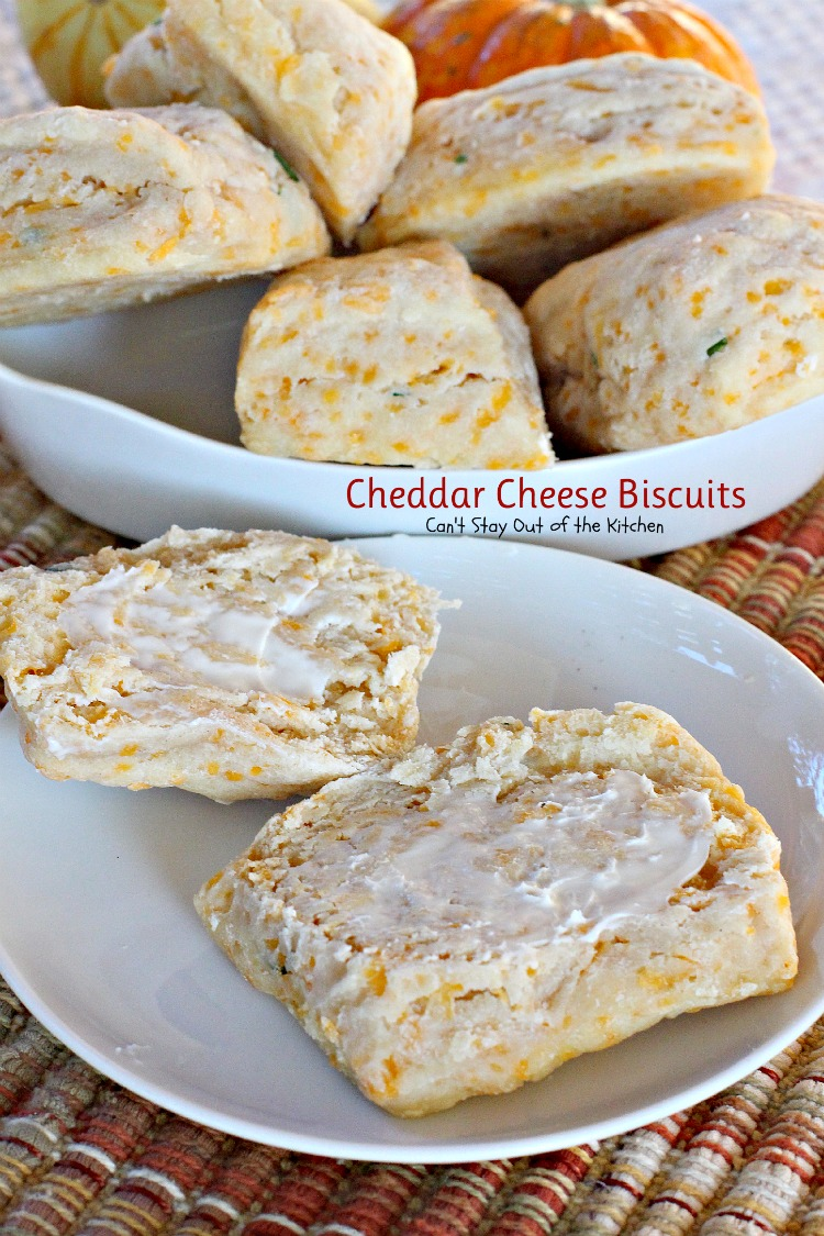 Cheddar Cheese Biscuits - Can't Stay Out of the Kitchen