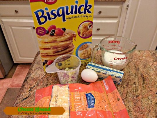 Cheese Bread | Can't Stay Out of the Kitchen | delicious #dinner #bread that's so quick and easy. This one starts with #Bisquick! #cheese