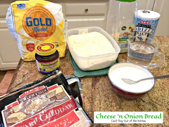 Cheese 'n Onion Bread | Can't Stay Out of the Kitchen | delicious dinner #bread using the #breadmaker! So easy. #cheddarcheese