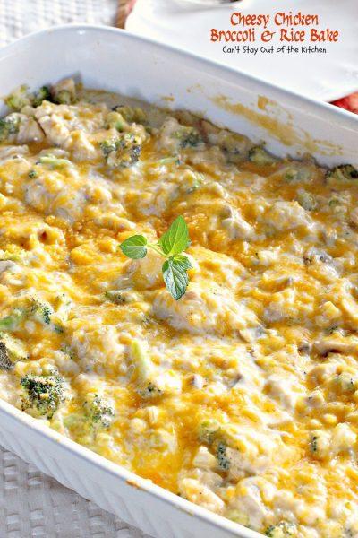Cheesy Chicken Broccoli and Rice Bake - IMG_5327