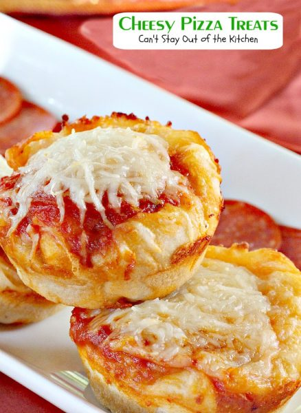 Cheesy Pizza Treats | Can't Stay Out of the Kitchen