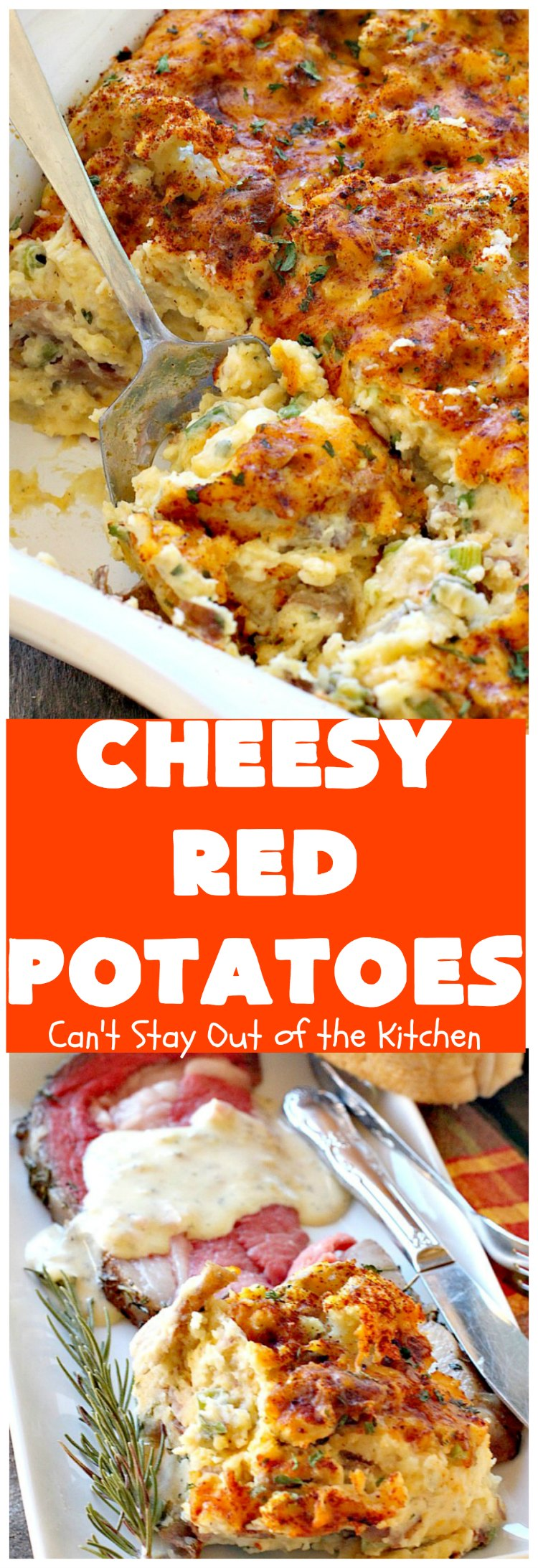Cheesy Red Potatoes | Can't Stay Out of the Kitchen