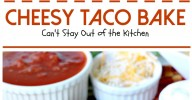 Cheesy Taco Bake | Can't Stay Out of the Kitchen | amazing #Tex-Mex entree with a #Bisquick & Cilantro crust, filled with #beef #corn and #salsa and topped with #cheese.