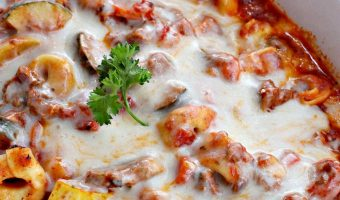 Cheesy Tortellini with Veggies