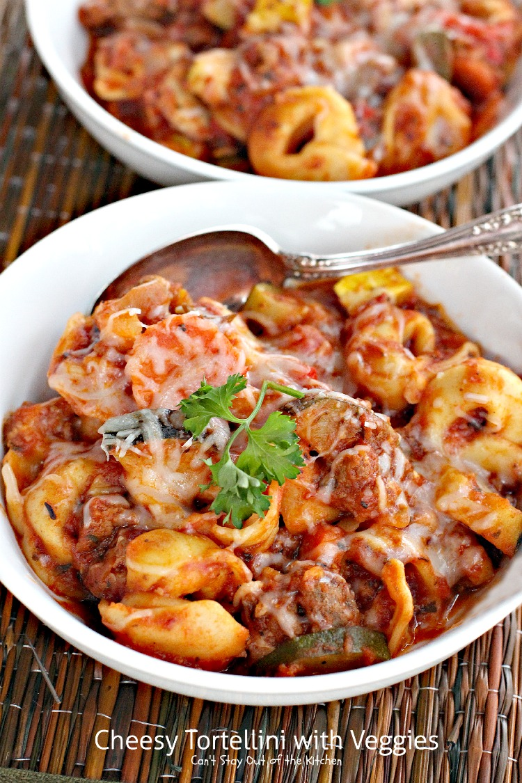 Cheesy Tortellini With Veggies Can T Stay Out Of The Kitchen