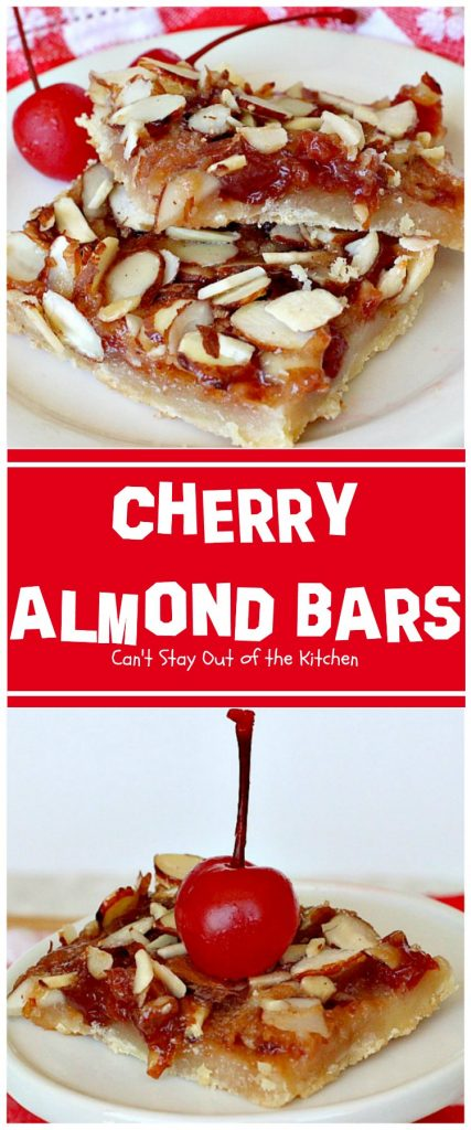 Cherry Almond Bars | Can't Stay Out of the Kitchen