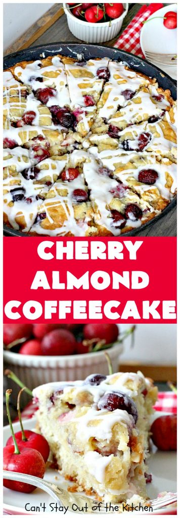 Cherry Almond Coffeecake | Can't Stay Out of the Kitchen