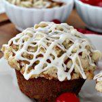 Cherry Almond Streusel Muffins   Can't Stay Out of the Kitchen