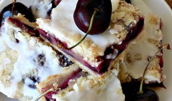Cherry Bars with Almond Drizzle
