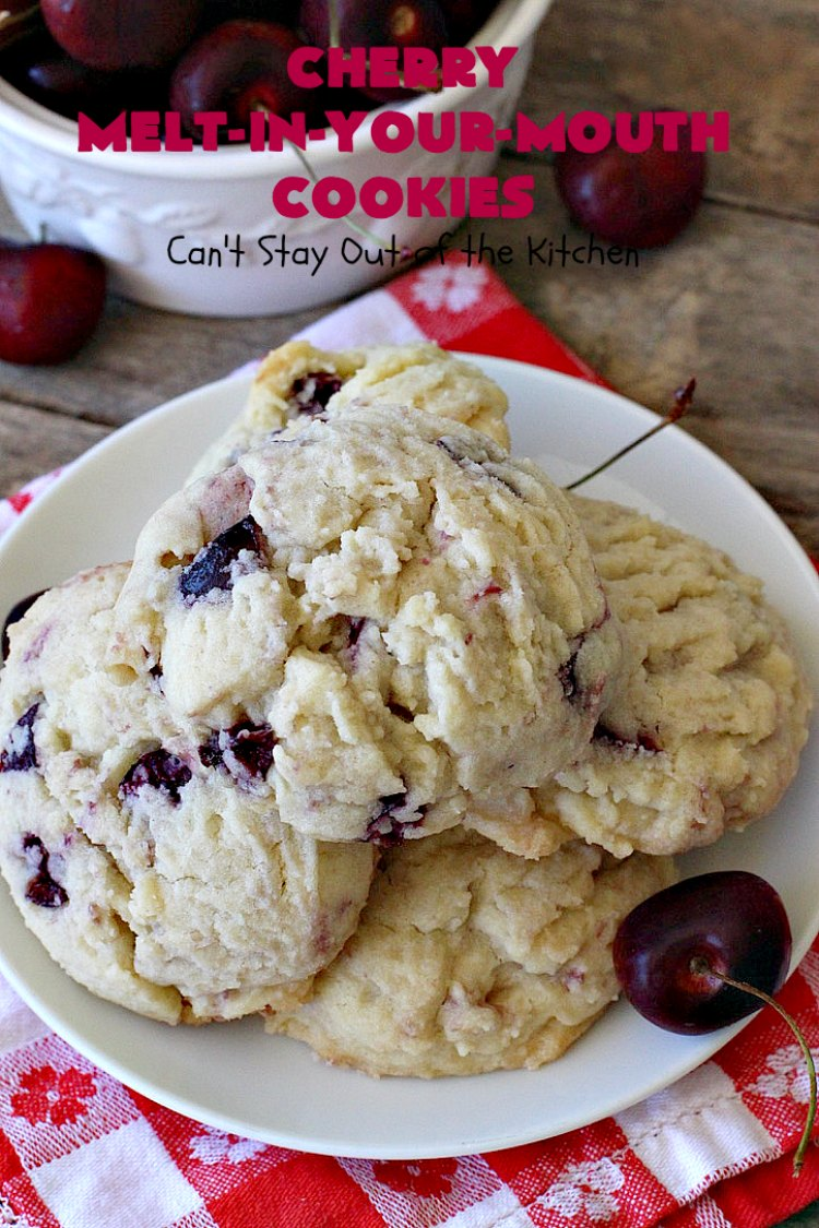 Cherry Melt-In-Your-Mouth Cookies