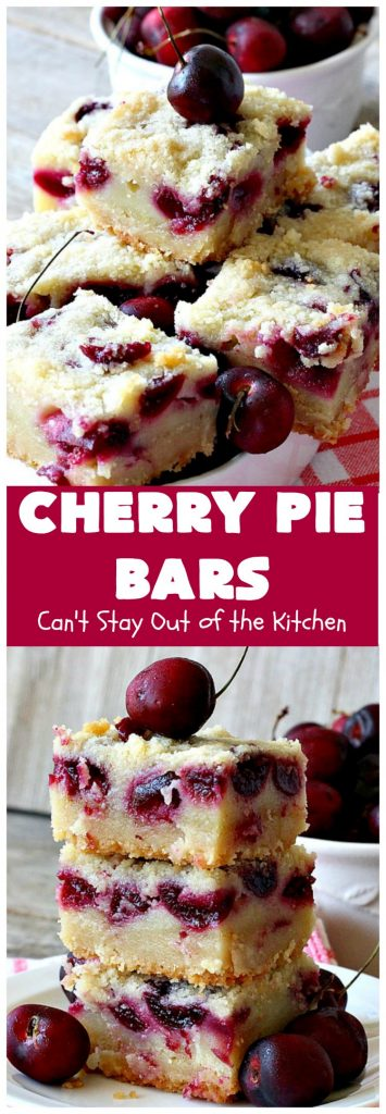 Cherry Pie Bars | Can't Stay Out of the Kitchen