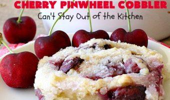 Cherry Pinwheel Cobbler
