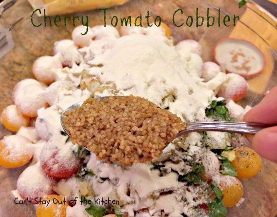 Cherry Tomato Cobbler - IMG_9673
