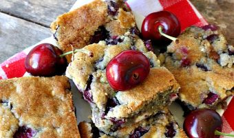Cherry White Chocolate Chip Blondies