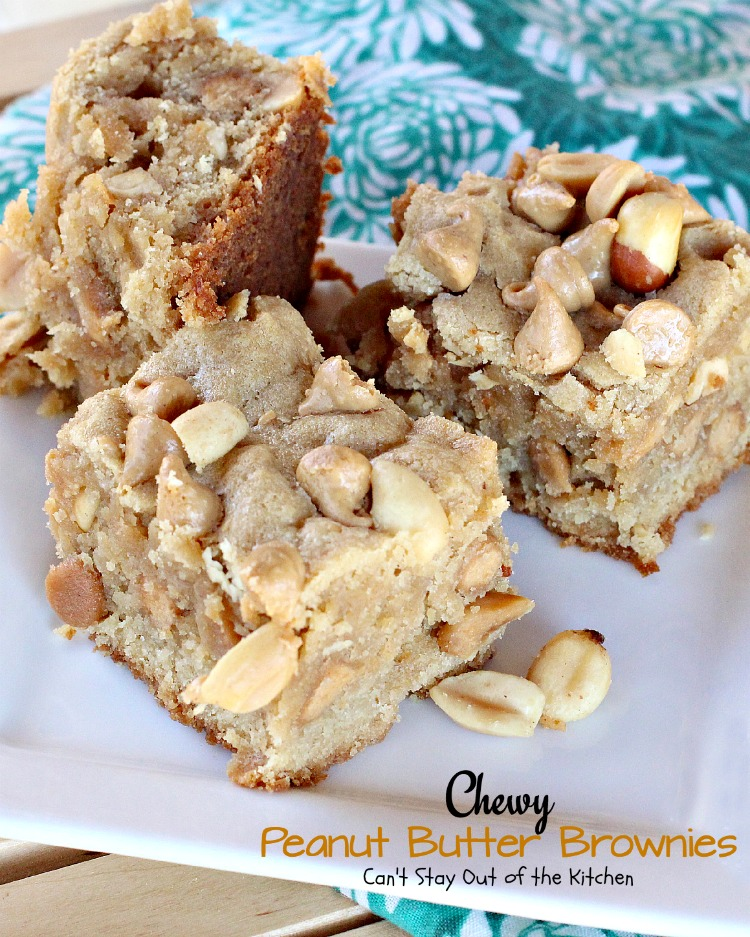 Chewy Peanut Butter Brownies | Can't Stay Out of the Kitchen | these ...