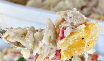 Chicken Alfredo Butternut Squash Pasta Bake