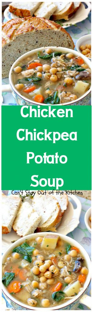 Chicken Chickpea Potato Soup | Can't Stay Out of the Kitchen