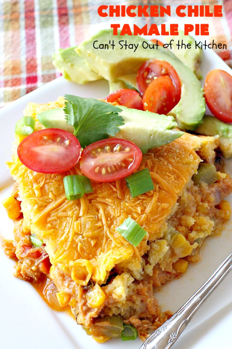 Chicken Chile Tamale Pie