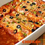 Chicken Enchiladas   Can't Stay Out of the Kitchen   these tasty #chicken #enchiladas are so quick & easy to make. They're the perfect #TexMex entree for family or company dinners or #CincoDeMayo celebrations.