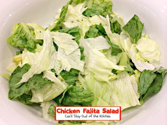 Chicken Fajita Salad | Can't Stay Out of the Kitchen | scrumptious #Tex-Mex #salad that tastes like eating #chicken #fajitas in salad form!