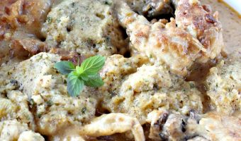 Chicken Fricassee and Herb Dumplings